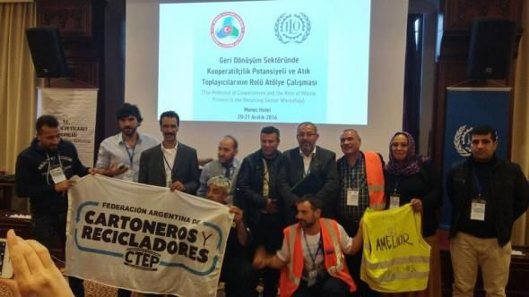 Participants at the ILO Waste Pickers Workshop, held in Ankara